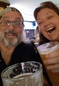 Ol' Chumbucket and Mad sally enjoy a delicious beverage at the college Inn Pub.