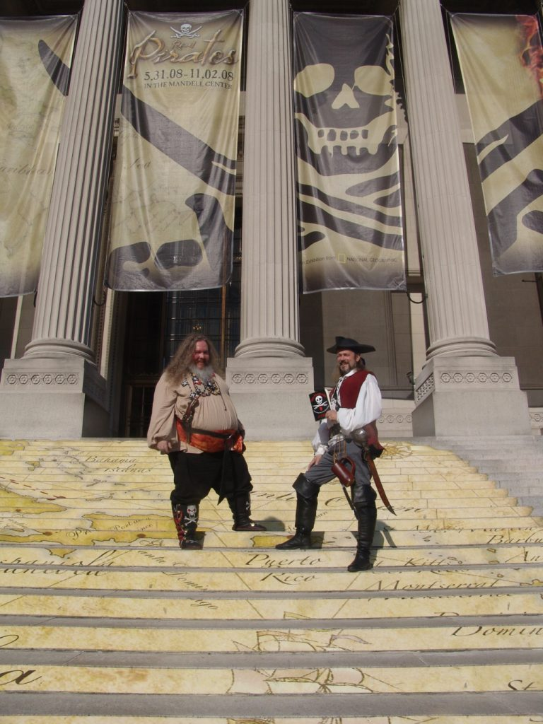 In 2008, Cap'n Slappy and Ol' Chumbucket were at the Franklin Institute in Philadelphia for the 'Real Pirates' exhibition.