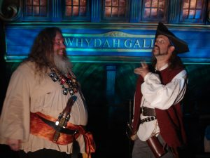 Cap'n Slappy and Ol' Chumbucket in 2008 at the 'Real Pirates' exhibit, featuring artifacts from Whydah. We'd been hired to provide entertainment for the exhibition opening Sept. 19, 2008. (That's Talk Like a Pirate Day to you, mateys!)